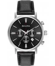 Bulova 96B262 Mens Aerojet Silver Black Chronograph Watch