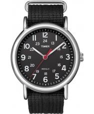 Timex T2N647 Mens All Black Weekender Slip Through Watch