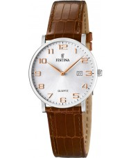 Festina F16477-2 Ladies Brown Leather Strap Watch