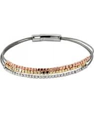 Fossil JA6688998 Ladies Iconic Tri-Tone Nugget Bracelet