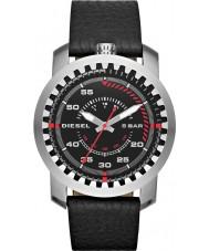 Diesel DZ1750 Mens Rig Black Leather Strap Watch