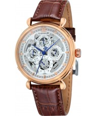 Thomas Earnshaw ES-8043-04 Mens Grand Calendar Brown Leather Strap Watch