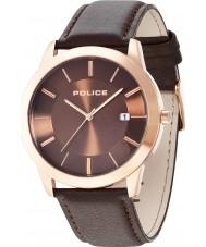 Police 14139JSR-12 Mens Sonaran Brown Leather Strap Watch