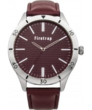 Firetrap Mens Red Leather Strap Watch
