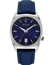 Bulova 96B212 Mens BA II Blue Leather Strap Watch