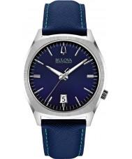 Bulova 96B212 Mens BA II Blue Leather Strap Watch