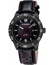 Wenger 01-0851-123 Mens Roadster Black Leather Strap Watch