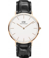 Daniel Wellington DW00100014 Mens Classic Reading 40mm Black Leather Strap Watch