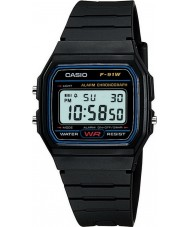 Casio F-91W-1XY Mens Retro Collection Black Chronograph Watch