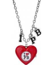 Pauls Boutique Ladies Red Heart Necklace Watch