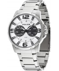 Police 14100JS-01M Mens Visionary Silver Steel Bracelet Watch
