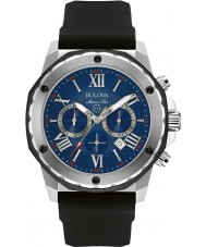 Bulova 98B258 Mens Marine Star Black Chronograph Watch