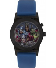 Avengers AVG3509 Marvel Boys Flashing Watch with Blue Silicone Band