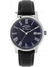 Rotary GS90075-05 Mens Les Originales Black Leather Strap Watch