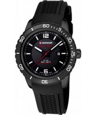 Wenger 01-0851-124 Mens Roadster Black Silicone Strap Watch