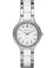 DKNY NY8139 Ladies Chambers Ceramic White Silver Watch
