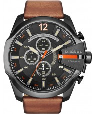 Diesel DZ4343 Mens Mega Chief Black Tan Chronograph Watch