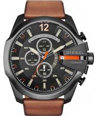 Diesel DZ4343 Mens Mega Chief Black Tan Chronograph Watch