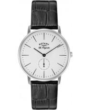 Rotary GS90050-02 Mens Les Originales Kensington Silver Black Watch