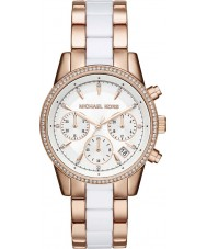 Michael Kors MK6324 Ladies Ritz Rose and White Chronograph Watch