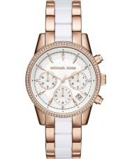 Michael Kors MK6324 Ladies Ritz Rose and White Chronograph Watch
