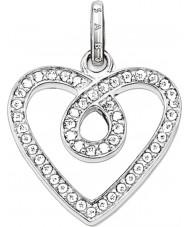 Thomas Sabo PE671-051-14 Ladies Eternity of Love White Zirconia Heart Pave Pendant