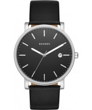 Skagen SKW6294 Mens Hagen Black Leather Strap Watch