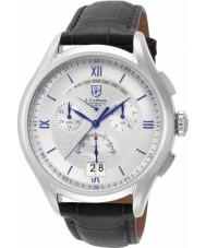 S Coifman SC0322 Mens Black Leather Chronograph Watch