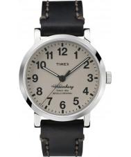 Timex TW2P58800 Mens Waterbury  Black Leather Strap Waterbury Watch