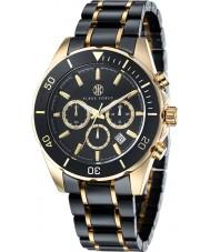 Klaus Kobec KK-20005-01 Mens Chronos Gold Plated and Black Ceramic Watch