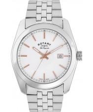 Rotary GB90110-06 Mens Les Originales Lausanne Silver Steel Bracelet Watch