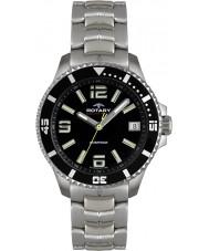 Rotary AGB00074-W-04 Mens Aquaspeed Black Steel Watch