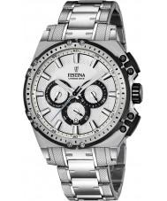 Festina F16968-1 Mens Chrono Bike Silver Steel Chronograph Watch