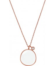 Skagen SKJ0567791 Ladies Sea Glass Rose Gold Steel Necklace