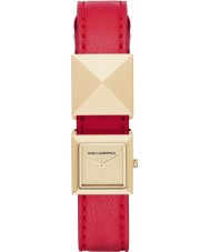 Karl Lagerfeld Demi Stud Gold Red Watch