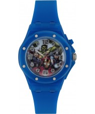 Avengers AVG3501 Marvel Boys Flashing Watch with Blue Silicone Band