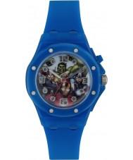 Avengers AVG3501 Marvel Boys Flashing Watch with Blue Silicone Band