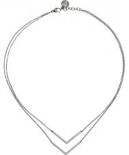 Edblad 216130049 Ladies Valley Silver Necklace with Clear CZ