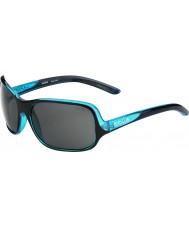 Bolle Kassia Shiny Black Blue Polarized TNS Sunglasses