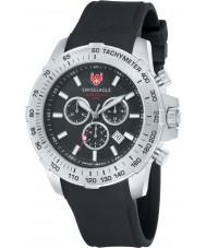 Swiss Eagle SE-9065-01 Mens Herzog Black Chronograph Watch
