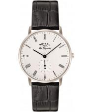 Rotary GS90050-01 Mens Les Originales Kensington Silver Black Watch