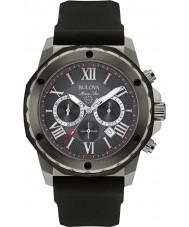 Bulova 98B259 Mens Marine Star Black Silicone Strap Chronograph Watch