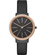 Skagen SKW2480 Ladies Ancher Black Leather Strap Watch