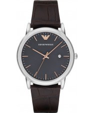 Emporio Armani AR1996 Mens Dress Dark Brown Leather Strap Watch
