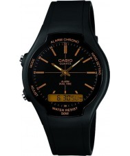 Casio AW-90H-9EVEF Collection Dual Time Black Watch