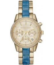 Michael Kors MK6328 Ladies Ritz Two Tone Steel Chronograph Watch