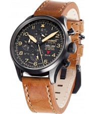 Ingersoll IN1513BBK Mens Bison No.71 Brown Leather Strap Watch
