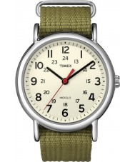 Timex Originals T2N651 Mens Natural Olive Weekender Slip Through Watch
