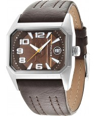Police 14102JS-12 Mens Voyager Brown Leather Strap Watch