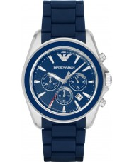 Emporio Armani AR6068 Mens Matte Blue Chronograph Sports Watch